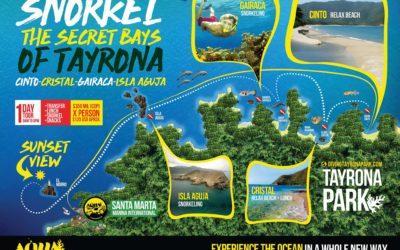 Snorkel por las Bahías Secretas del Parque Tayrona