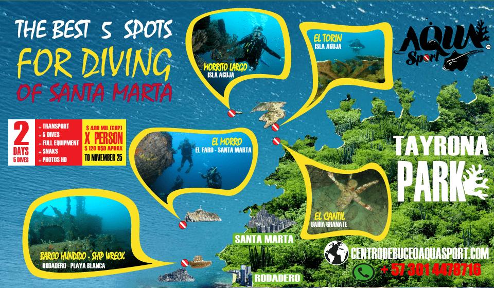 Los Mejores 5 sitios de Buceo en Santa Marta