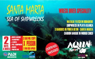 Shipwrecks in Santa Marta